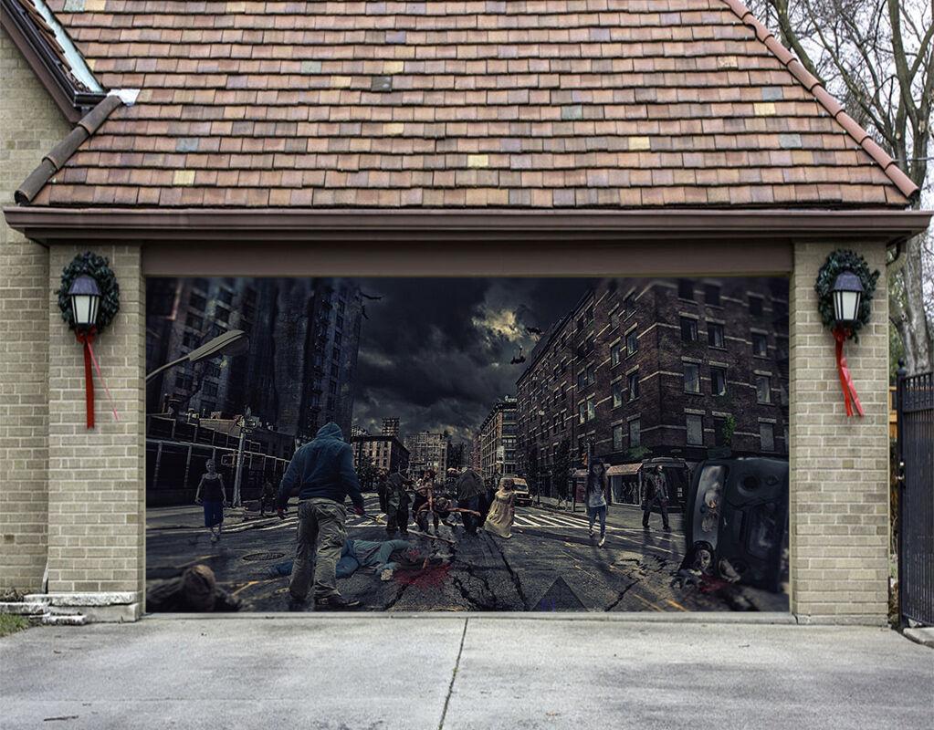 3D Night City 727 Garage Door Murals Wall Print Decal Wall AJ WALLPAPER AU Carly