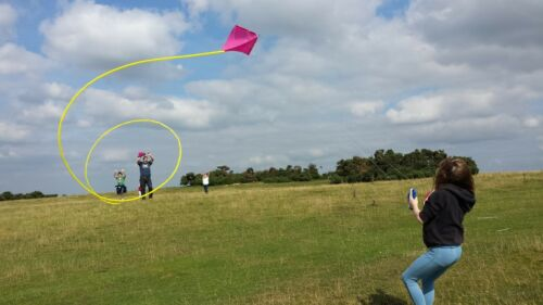 Adults Kids Outdoor Sport Toy PETER POWELL Stunt Kite MKIII NEON GREEN