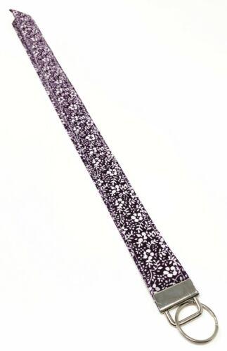 Sakura Print Fabric Lanyard Key Fob Key Chain