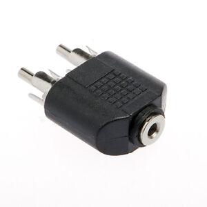 Adaptateur-2-Audio-Stereo-RCA-Male-vers-Prise-Mini-jack-3-5mm-Femelle