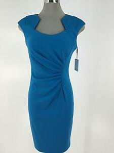 Image Is Loading Calvin Klein New Modern Y Cerulean Blue Dress