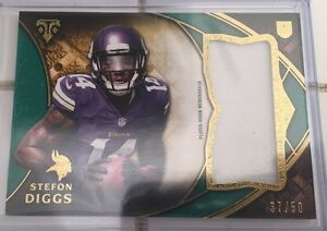 new style 3bc17 34a1d Details about 2015 Topps Triple Threads Stefon Diggs Jersey Rookie Card  37/50