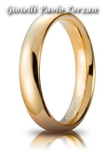 FEDE Matrimoniale UNOAERRE Comoda 4  mm oro giallo 18 Karati