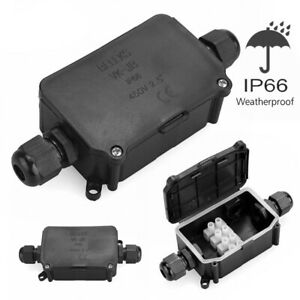 IP66 Waterproof Outdoor Enclosure Case Electrical Junction Box 2Way Terminal 9UK