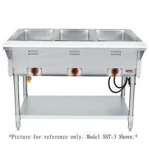 APW Wyott SSTS Electric Stationary Sealed Champion Hot Well Steam - Apw wyott steam table