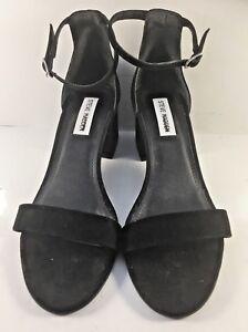 efdc79b5369 Steve Madden Black Suede Irenee Open Toe Sandals Womens Size US 8.5M ...