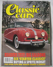 Classic Cars 05/1991 featuring Aston Martin, Alvis, Gilbern Invader, Wolseley