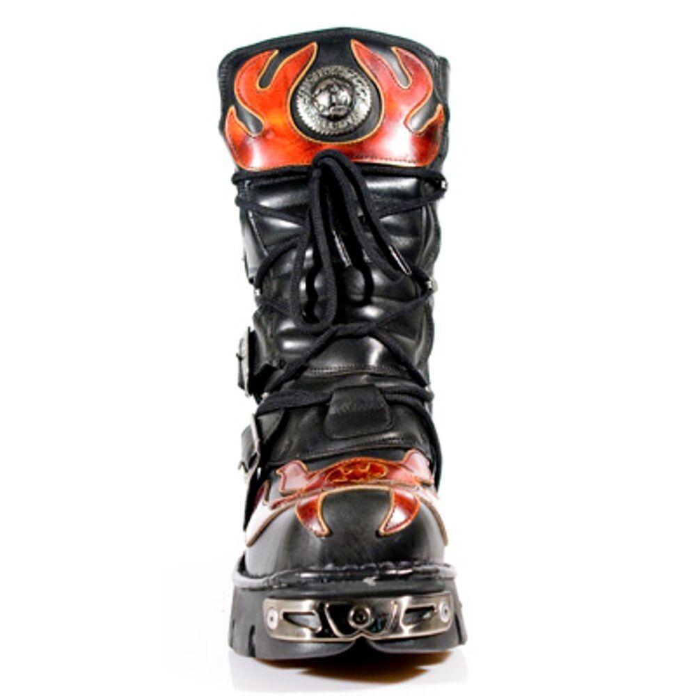 New Rock botas unisex punk Gothic Gothic Gothic botas-style 107 s1 rojo 5b1f37