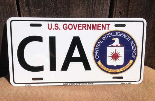US Government CIA Wholesale Metal Novelty License Plate Wall Decor