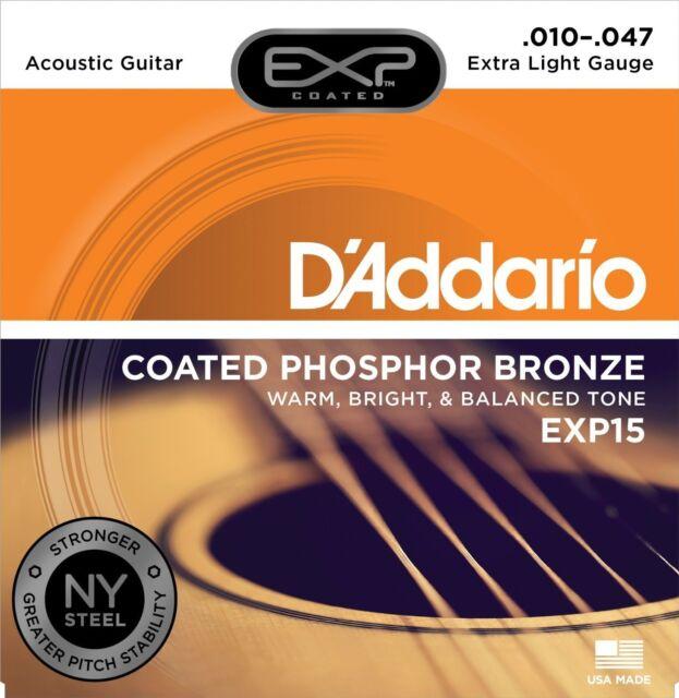 D'ADDARIO EXP15 - MUTA CORDE PER CHITARRA ACUSTICA (010-047)