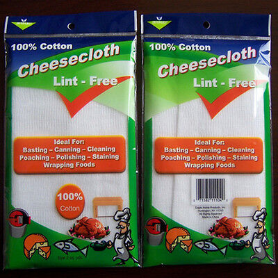 "Other Efficient 36"" Wide 2 Yard Gauze Cheese Cloth Cheesecloth Butter Muslin White Cloth Fabric"