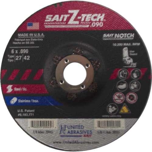 United Abrasives SAIT 20945 6x.090x7//8 Z-Tech Cutting Wheel 25 pack