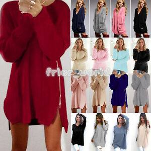 Women-039-s-Ladies-Knit-Oversized-Long-Sleeve-Casual-Loose-Jumper-Long-Tops-Blouse