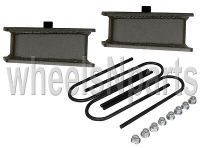 "2/"" lowering blocks fab steel chevy S10 drop kit /& rear axle u bolts GMC Sonoma"