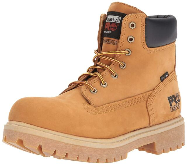 bc3110389a5 Timberland Pro Direct Attach 6 Inch Steel Toe Wheat 65016 Mens 8 M 8