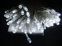 4M 40 LED White Christmas Battery Fairy Lights Flash & Static
