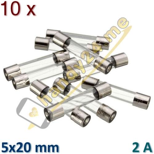10x copia de seguridad FSP vidrio de seguridad Fuse f2al250v 2a 250v 5x20mm