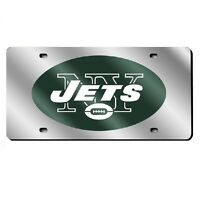 York Jets Mirrored Laser Cut License Plate Laser Tag