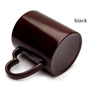 Magic-Tasse Herzhenkel Sublimation Becher Mug Farbwechseltasse Schwarz