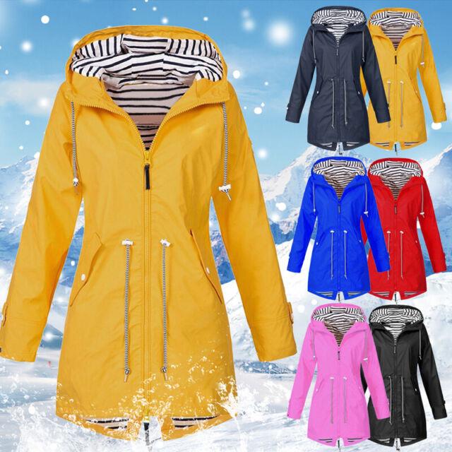 Damen Outdoor Jacke Windjacke Regenmantel Mantel Wasserdicht LP