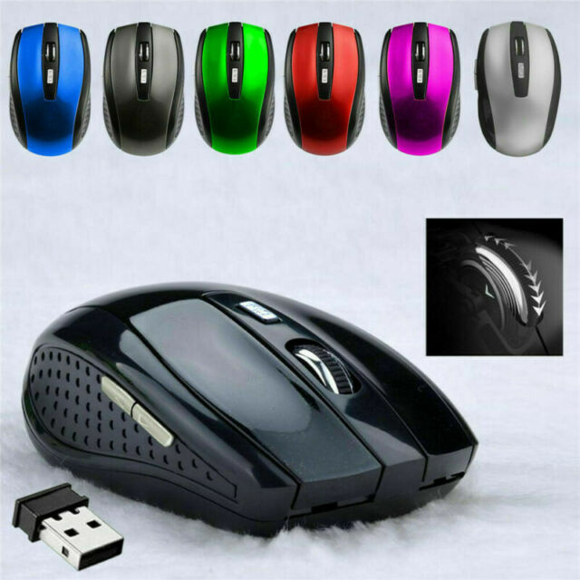 New 2.4GHz High Quality Wireless Optical Mouse/Mice+USB Receiver for PC 1600dpi