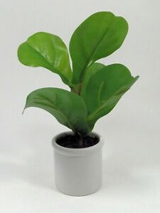 Artificial Faux Tropical Fiddle-Leaf Fig Plant there is 4 plants to a set