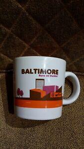 DUNKIN' DONUTS City DESTINATION COFFEE MUG Baltimore Maryland 2013 14 oz Ceramic