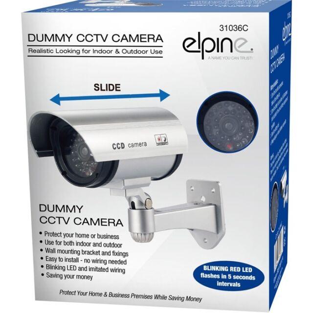 Dummy Fake CCTV Security Camera Decoy Imitation Flashing LED Indoor