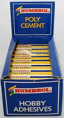 HUMBROL 12 ml POLY CEMENT GLUE 1 x Tube CHEAP IN QUANTITY FOR PLASTIC KITS NEW