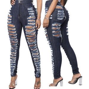 Fashion-Women-Broken-Hole-High-Waist-Ripped-Skinny-Slim-Long-Jeans-Denim-Pants