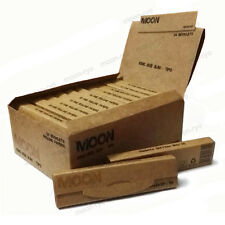 Moon Unbleached Cigarette Rolling Papers King Size 108*45mm W Tips 768 leaves