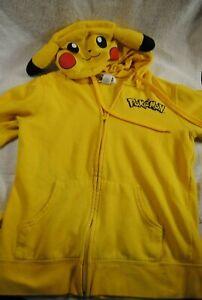Original-Pokemon-Pikachu-Costume-Hoodie-Kids-M-Medium