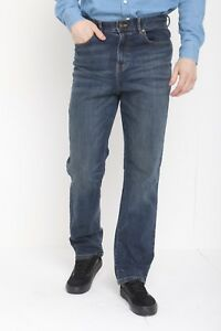 Men-039-s-Straight-Leg-Jeans-Casual-Plain-Denim-Straight-Fit-Leg-Regular-Fit
