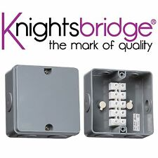 Knightsbridge 30A Weatherproof Junction Box Outdoor Electrical Power Connection