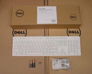 DELL-KM636-White-Wireless-Cordless-Keyboard-Mouse-Set-Combo-Kit-US-EU-Layout