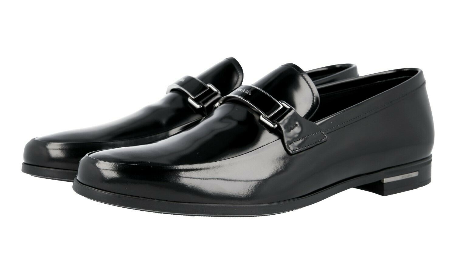 AUTH LUXURY PRADA BUSINESS scarpe LOAFER 2DE060 nero NEW US 10.5 EU 43,5 44
