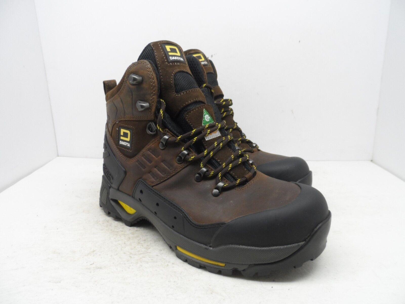 DAKOTA Men's HD3 Steel Toe Composite Plate Waterproof Hiking Boot Brown 10.5M