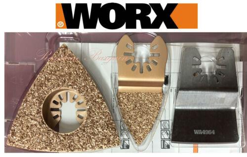 Worx Sonicraft Oscillant Outil Multi-Universel peinture Removal Kit - 3 PC WA5098