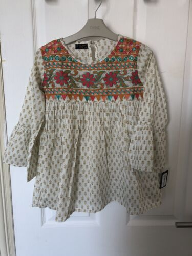 embroidered Limelight Girls Top Size 9-10 Years