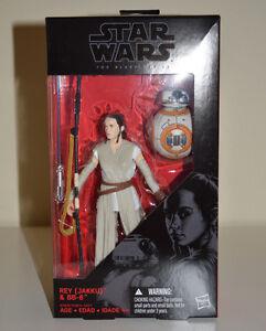 "Star Wars Black Series Rey Jakku & BB-8 The Force Awakens 6"" Wave 1 #02 Hasbro"