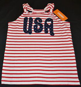 Gymboree-Red-White-amp-Cute-Stars-amp-Stripes-USA-Tank-Top-5-Kid-Girls-NWT-July-4th