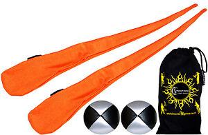 Sock Poi Set - High Quality Stretchy Poi Socks & Balls! (Orange)