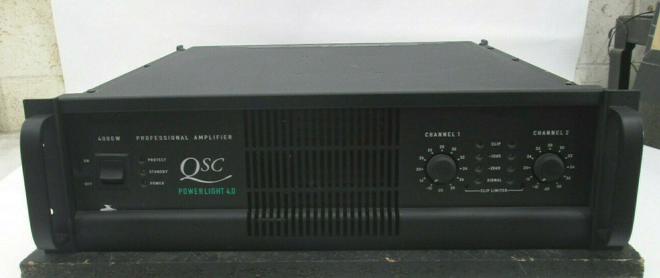 QSC PowerLight 4.0 Pro 2 Ch Power Amplifier PL4.0 900 WPC @ 8 OHMS