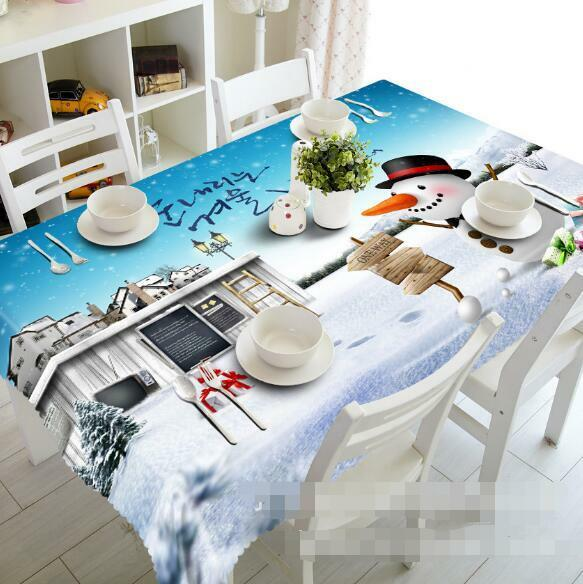 3D Snow Hut 62 Tablecloth Table Cover Cloth Birthday Party Event AJ WALLPAPER AU