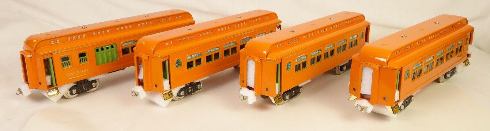 MTH (Lionel) 10-6  Set 418 Hermoso Naranja Contemporáneo turismos-Menta en caja