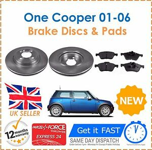 For-BMW-Mini-One-Cooper-1-6-2001-2006-2-Front-Brake-Discs-amp-Pads-New
