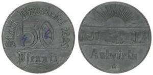 Wünsiedel 50 Pfennig 1920 vz 52582