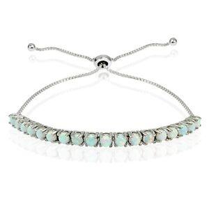 Sterling-Silver-1ct-Created-Opal-Adjustable-Bracelet