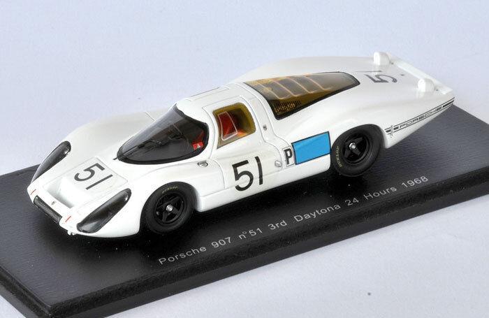 SPARK Porsche 907, No.51 3rd Daytona 24 Hours 1968 Jo Schlesser  S2986 1 43