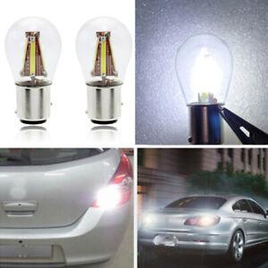 4-LED-Filament-1157-BAY15D-Car-Auto-Reverse-Backup-Tail-Stop-Brake-Light-Bulb